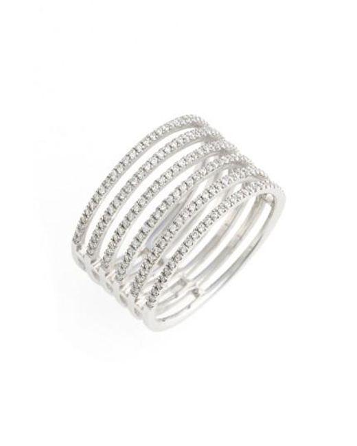 Bony Levy | Metallic 'prism' Six-row Diamond Ring (nordstrom Exclusive) | Lyst