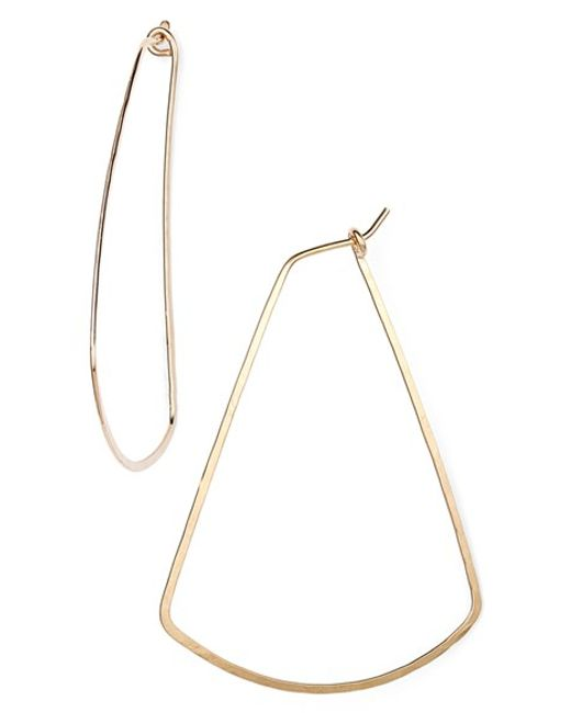 Nashelle | Metallic Ija Triangle Hoop Earrings | Lyst