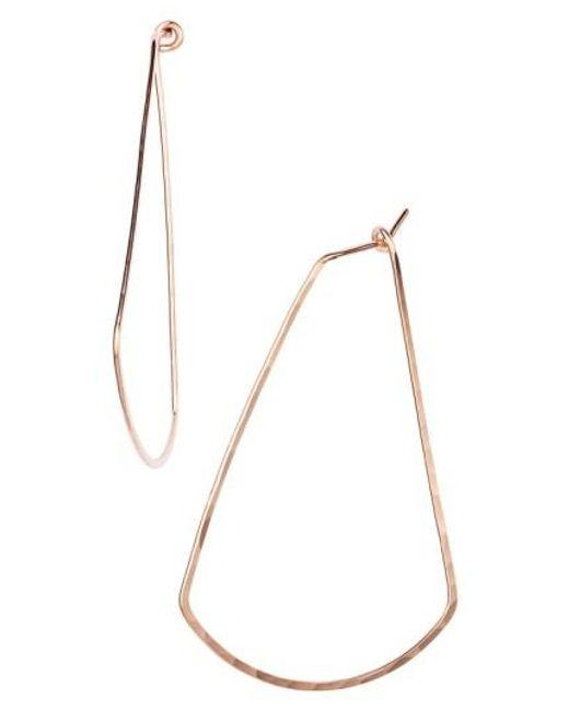 Nashelle | Metallic Ija Triangle Hoop Earrings | Lyst