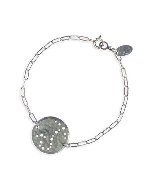 Ija | Metallic 'zodiac' Sterling Silver Chain Bracelet | Lyst