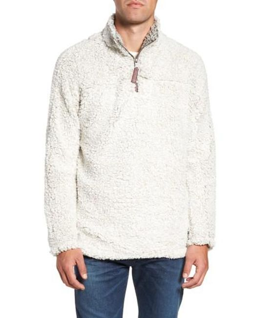 True Grit - White Frosty Tipped Quarter Zip Pullover for Men - Lyst