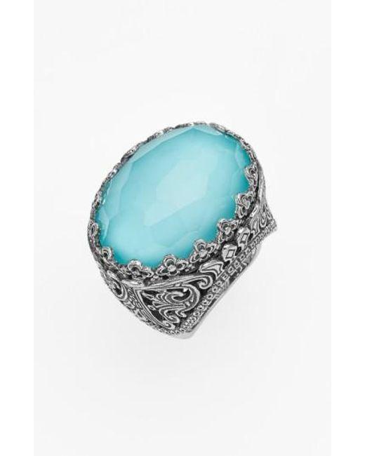 Konstantino   Blue 'aegean' Oval Stone Ring   Lyst