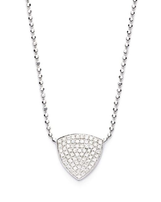 Bony Levy | White 'aurora' Diamond Pave Triangle Necklace (limited Edition) (nordstrom Exclusive) | Lyst
