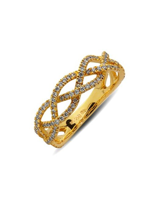 Bony Levy | Yellow Braided Diamond Ring (limited Edition) (nordstrom Exclusive) | Lyst