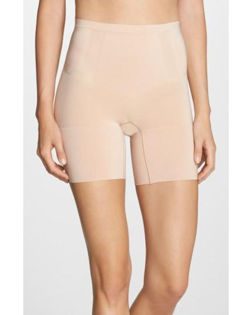 Spanx   Natural Spanx Oncore Mid Thigh Shorts   Lyst