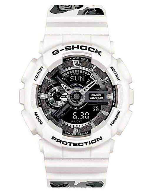 G-Shock | White G-shock 's-series' Floral Band Resin Ana-digi Watch | Lyst