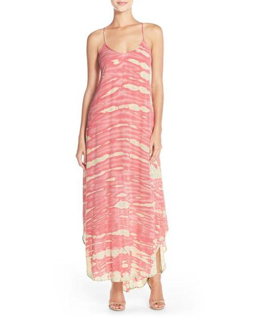 Fraiche By J   Blue Tie Dye A-line Maxi Dress   Lyst