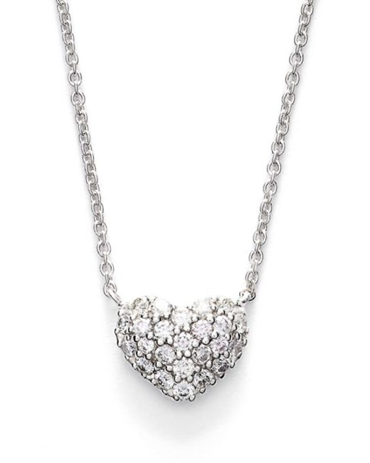 Bony Levy | Metallic Diamond Pave Heart Pendant Necklace (limited Edition) (nordstrom Exclusive) | Lyst