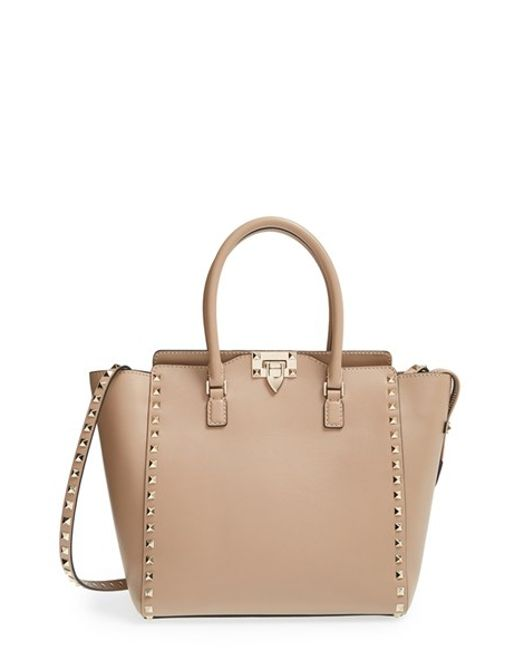Valentino | Multicolor 'rockstud' Leather Double Handle Tote | Lyst