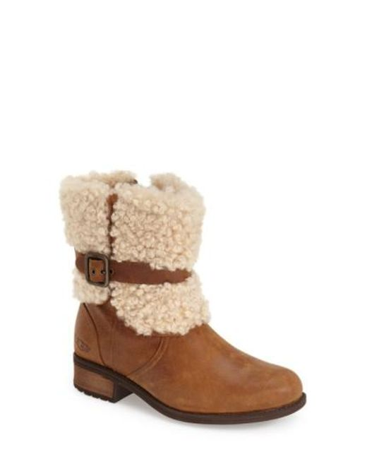 Ugg | Brown Ugg Blayre Ii Shearling Cuff Bootie | Lyst