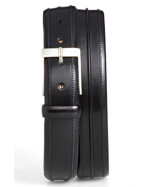 Mezlan | Black 'parma' Leather Belt for Men | Lyst