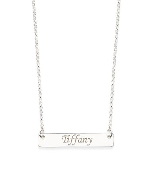 Argento Vivo | Metallic Personalized Script Bar Pendant Necklace | Lyst