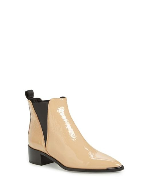 Acne | Natural 'jensen' Pointy Toe Bootie | Lyst
