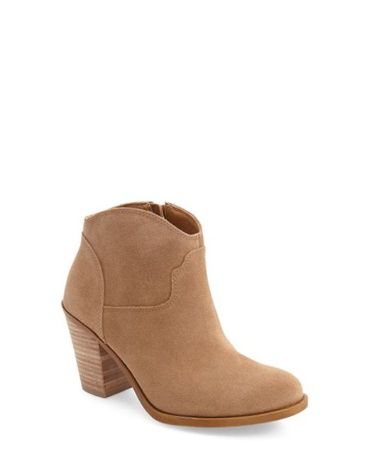 Lucky Brand | Natural Eller Suede Ankle Boots | Lyst