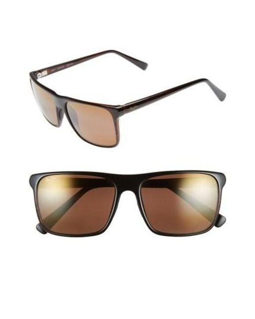 Maui Jim | Brown Flat Island 58mm Polarizedplus Sunglasses | Lyst