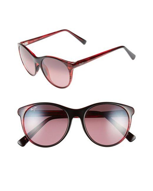 Maui Jim | Red Mannikin 54mm Polarizedplus Cat Eye Sunglasses | Lyst