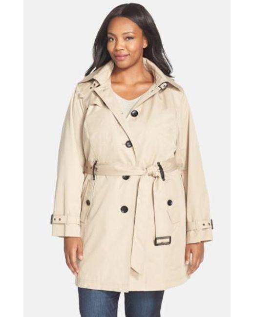 MICHAEL Michael Kors   Natural Single Breasted Raincoat   Lyst