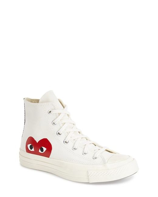 Comme des Garçons | White All Star '70 High Top Sneaker | Lyst