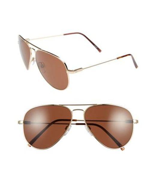 Electric | Brown 'av1' 58mm Aviator Sunglasses | Lyst