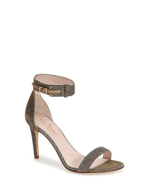 kate spade new york | Brown 'Isa' Ankle Strap Sandal | Lyst