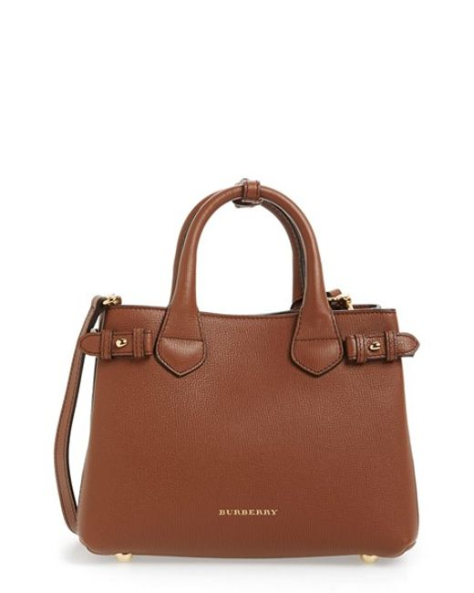 Burberry | Brown Small Banner Leather Tote | Lyst