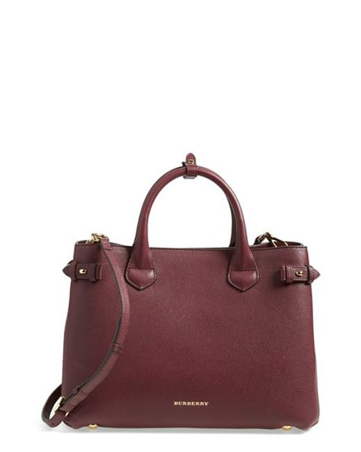 Burberry | Red 'banner' Tote | Lyst