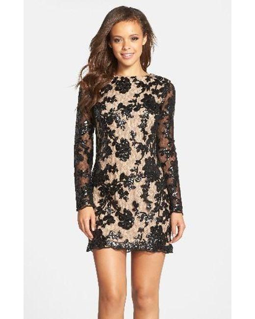 Dress the Population | Black Grace A-line Dress | Lyst