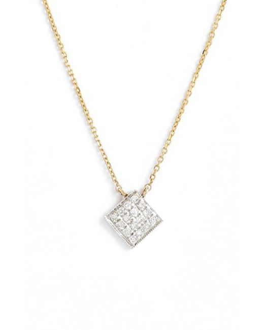 Dana Rebecca | Yellow 'lisa Michelle' Diamond Pave Square Pendant Necklace (nordstrom Exclusive) | Lyst