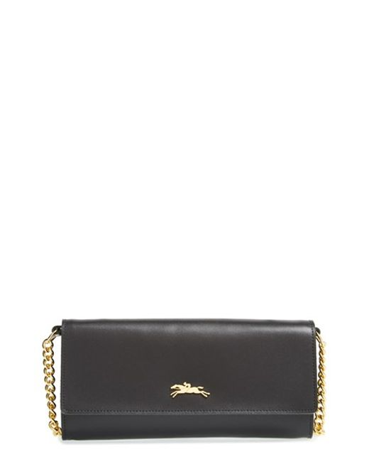 Longchamp | Black 'honore' Wallet On A Chain | Lyst