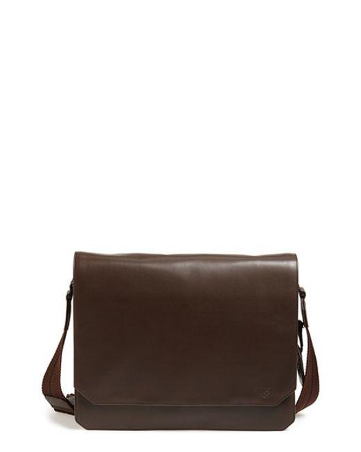 Vince Camuto | Brown 'tolve' Leather Messenger Bag for Men | Lyst