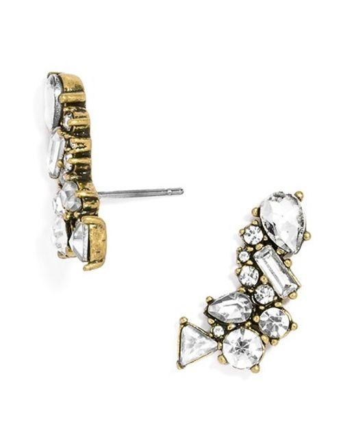 BaubleBar | Metallic Crystal Triangle Ear Crawlers | Lyst