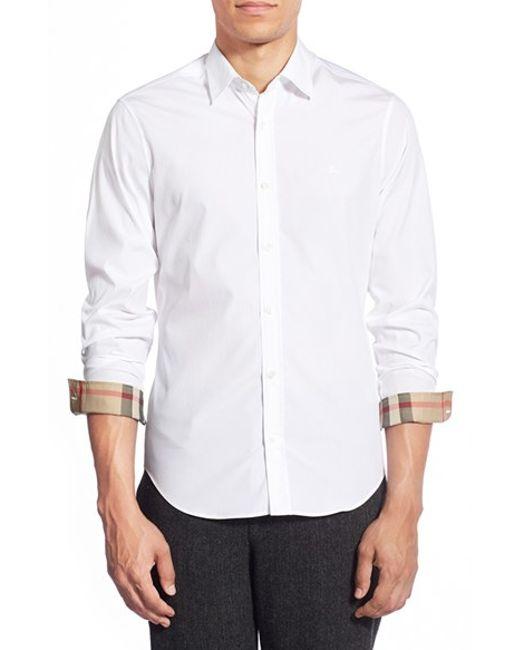 Burberry   White Cambridge Aboyd Sport Shirt for Men   Lyst