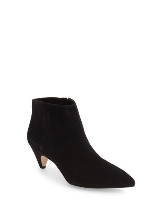Sam Edelman | Black Lucy Suede Ankle Boots | Lyst