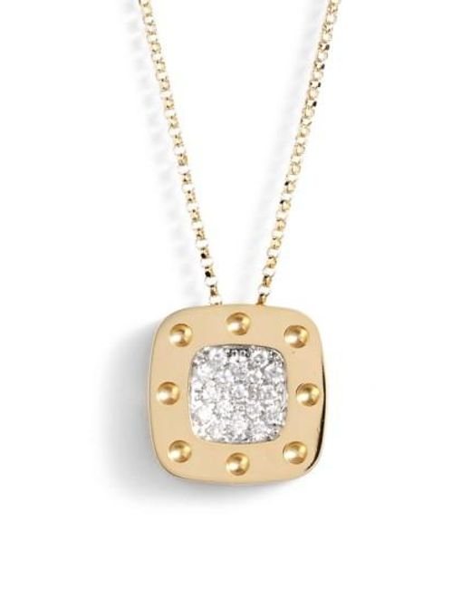 Roberto Coin | Metallic 'pois Moi' Diamond Pendant | Lyst