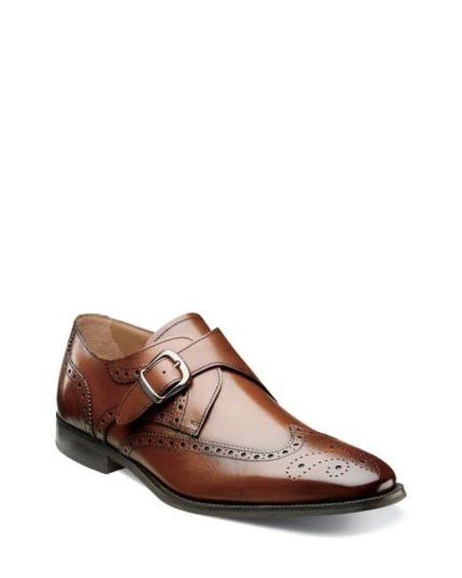 Florsheim | Brown 'sabato' Wingtip Monk Strap Shoe for Men | Lyst