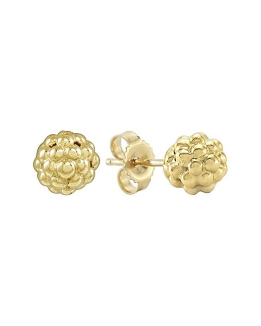 Lagos | Metallic 'caviar Icon' Stud Earrings | Lyst