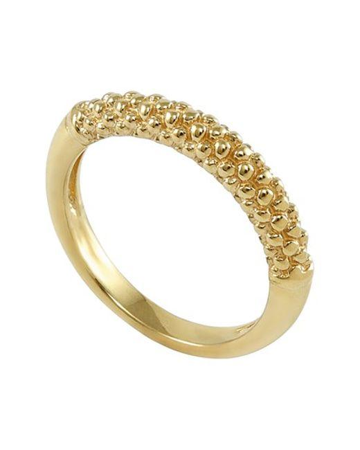 Lagos | Metallic Caviar Band Ring | Lyst