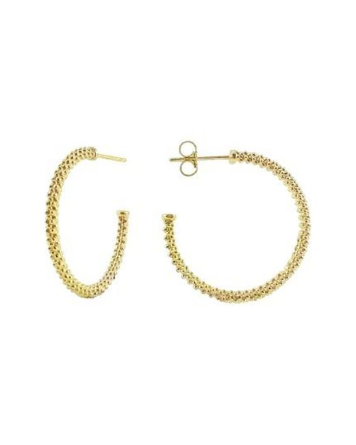 Lagos | Metallic Caviar Hoop Earrings | Lyst