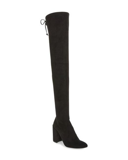 Stuart Weitzman | Black All Legs Suede Over-The-Knee Boots | Lyst