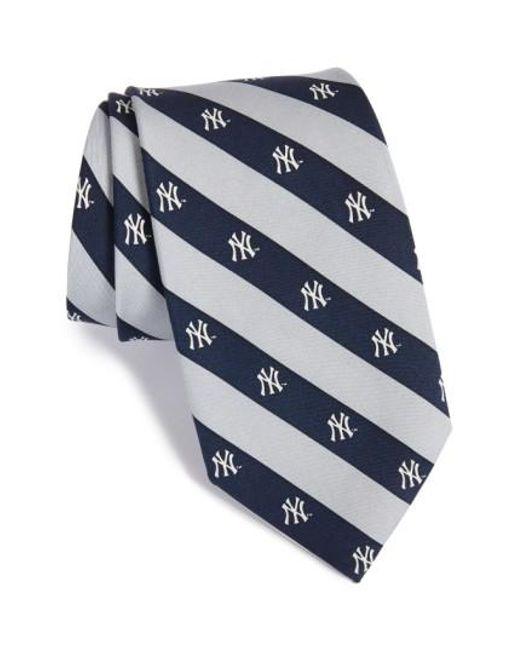 Vineyard Vines | Blue 'new York Yankees - Mlb' Print Silk Tie for Men | Lyst