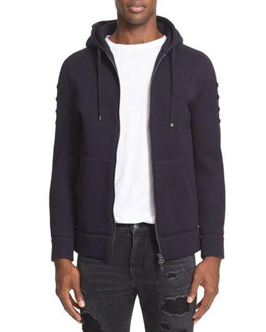 Helmut Lang | Black Full Zip Hoodie for Men | Lyst
