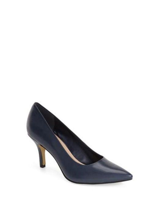 Bella Vita | Blue 'Define' Pointy Toe Pump | Lyst