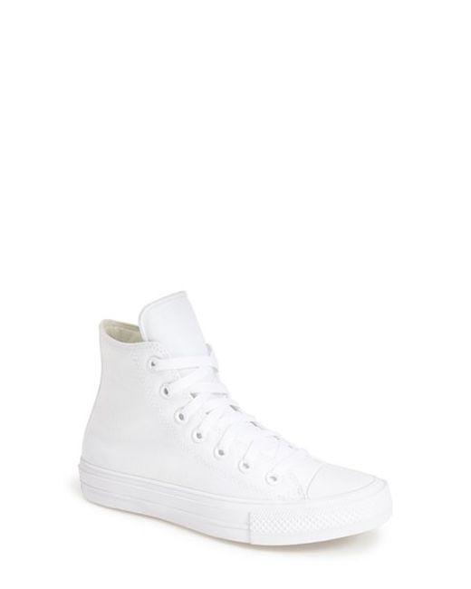 Converse   White Chuck Taylor All Star 'chuck Ii' High Top Sneaker   Lyst