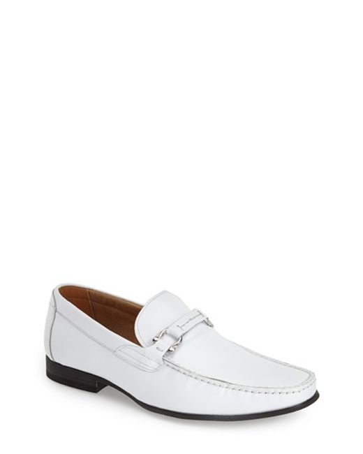 Steve Madden | White 'winlock' Leather Bit Loafer for Men | Lyst