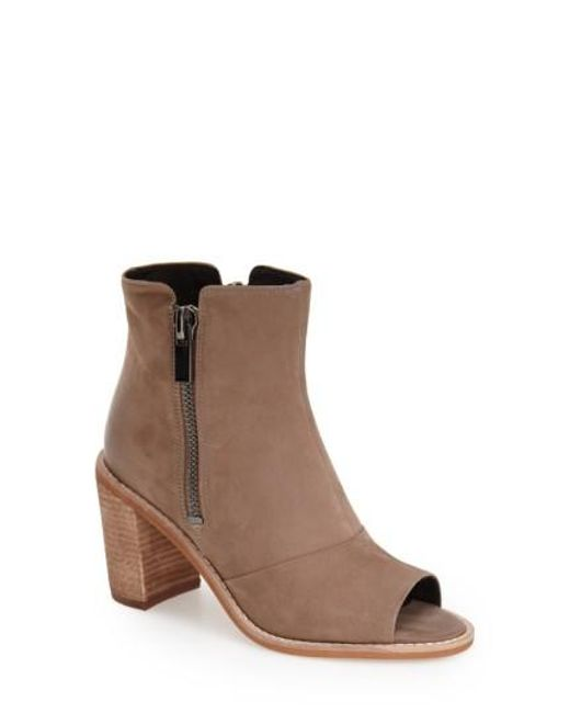 Kenneth Cole | Natural 'lacy' Peeptoe Bootie | Lyst