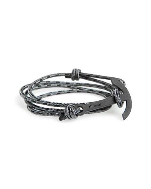 Miansai | Gray Modern Anchor Rope Wrap Bracelet for Men | Lyst