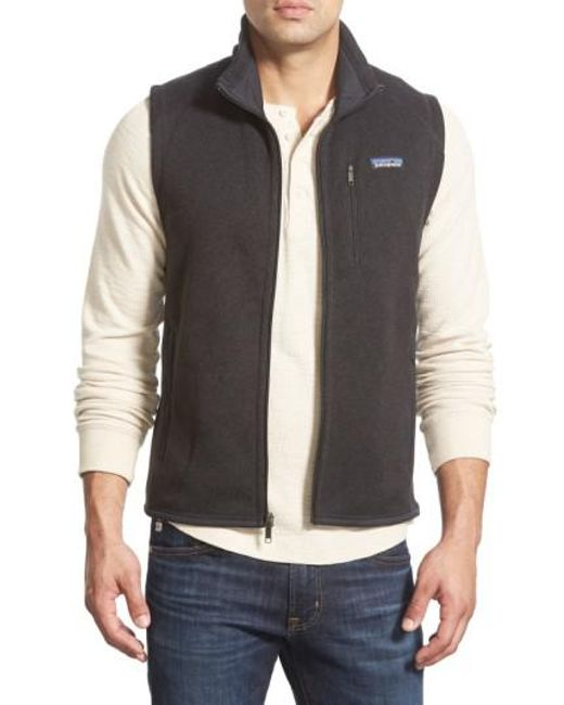 Patagonia   Black 'better Sweater' Zip Front Vest for Men   Lyst