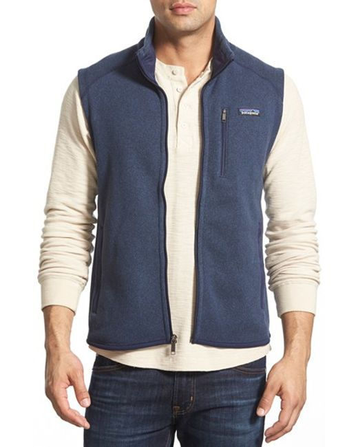 Patagonia | Blue 'better Sweater' Zip Front Vest for Men | Lyst