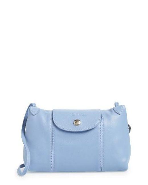 Longchamp | Red Le Pliage - Cuir Crossbody Bag | Lyst