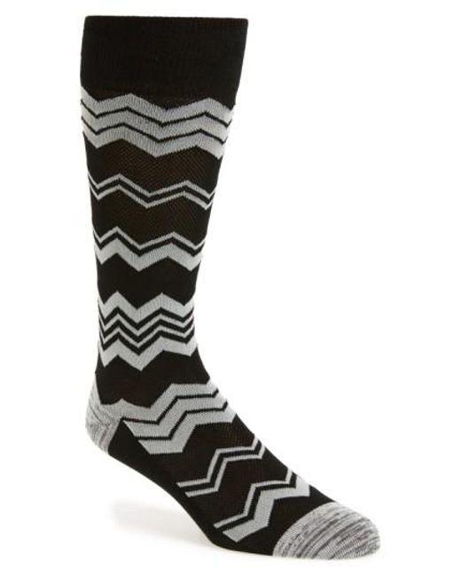Calibrate | Gray Chevron Socks for Men | Lyst